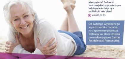 Zaproszenie na bezpłatne profilaktyczne badanie mammograficzne piersi