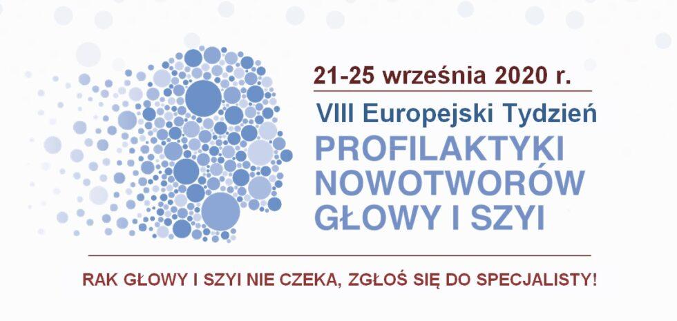 Plakat VIII Europejskiego Tygodnia Profilaktyki Nowotworów Głowy i Szyi